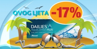 Dailies Aquacomfort Plus ljetna akcija